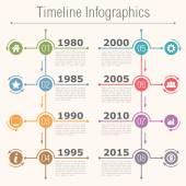 Infographie timeline — Vecteur