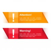 Attention and Warning Banners — Stock Vector