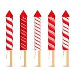 Red Firework Rockets — Stock Vector #60136277