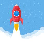 Red Rocket — Stock Vector