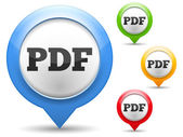 PDF File Icons — Stock Vector