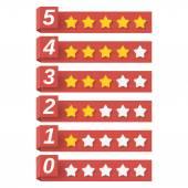 评级星星 — 图库矢量图片