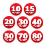 Discount Stickers — Stock Vector #71432445