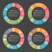 Circle Diagram Templates — Stock Vector