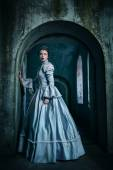 Woman in victorian dress — Stock Photo