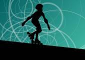 Rolo patinação artística no gelo de fundo vector — Vetor de Stock