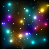 Glowing stars in space glitter vector background template concep — Stock Vector