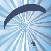 Paragliding active sport abstract background vector — Stock Vector