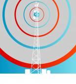 De fundo vector antena transmissão comunicação torre — Vetor de Stock