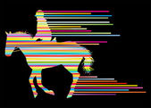 Horse riding equestrian sport with horse and rider vector backgr — Stockvector