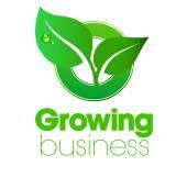 Growing Leaf logo — Stock Vector