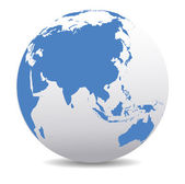 中国和亚洲,全球化的世界 — 图库矢量图片