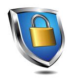 Shield Lock — Vettoriale Stock