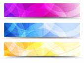 Abstract Orange Purple and Blue Web Banners Background — Stock Vector