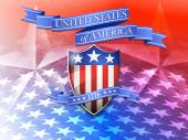 United States of America Shield and Star Background — Stock Vector