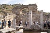 The ancient bathroon in Ephesus — Stock Photo