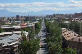 Mashtoc Avenue in Yerevan — Stock Photo