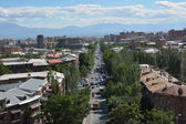 Mashtoc Avenue in Yerevan — Stock Photo