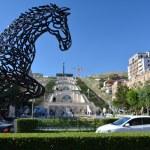 The horse statue in Yerevan — Stock Photo #52463769