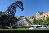The horse statue in Yerevan — Stock Photo