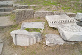 Pieces of the ruins in Trajan temple — Stock Photo
