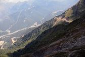 Mountain slopes in early autumn — Stock Photo