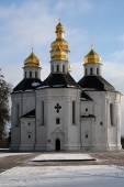 St. Catherine church in Ukraine, Chernihiv, in good winter weath — Stock Photo