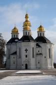 Closeup view of St. Catherine church, Chernihiv — Stock Photo