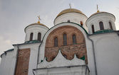 Central part of Transfiguration cathedral with ancient bricks an — Stock Photo