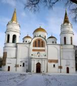 Transfiguration cathedral, Chernihiv, Ukraine, in winter — Stock Photo