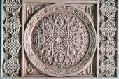 Carved wooden  Armenian ornament — Stock Photo