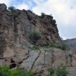 Landscape of mountains that are close to Geghard monastery — Stock Photo #70592511