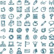 Blue business hand drawn doodles highligher icons — Stock Vector #54999901