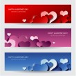Modern valentines day banners — Vecteur #59930223