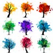 Colorful tree background — Stock Vector #61811823