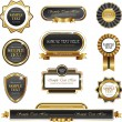 Vintage gold frame vector banners — Stock Vector #63991225