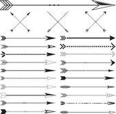 Vector Arrow Clip art Set on White Background — Stock Vector