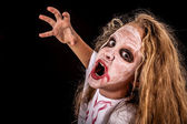 Teen girl in costume zombi. Concept of death on  Halloween party — Photo