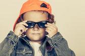 Fashion child. Happy boy model — Stock Photo