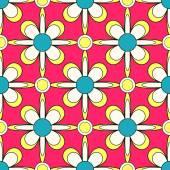 Seamless abstract floral vector illustration background — Vetor de Stock