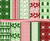 剪贴簿的抽象矢量圣诞纸一套 — 图库矢量图片