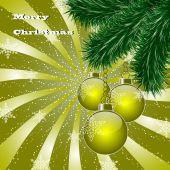 Christmas abstract vector illustration greeting card — Stock Vector