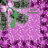 Boże Narodzenie streszczenie wektor ilustracja karta z pozdrow — Wektor stockowy