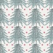 Fundo de ilustração vetorial abstrato natal com árvores de natal — Vetorial Stock