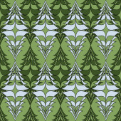 Christmas trees. Abstract vector illustration of a christmas background — Vector de stock