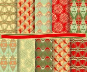 Set of abstract vector Christmas paper for scrapbook — Stok Vektör