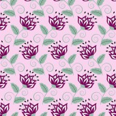 Abstract vector illustration floral fond — Vecteur