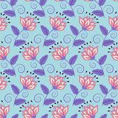 Sfondo floreale di illustrazione vettoriale astratta — Vettoriale Stock