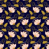 抽象的なベクトル イラスト花の背景 — ストックベクタ