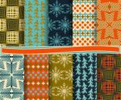 Set van abstracte kerst vector papier voor scrapbook — Stockvector